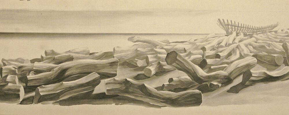 DuilioCambellotti La Legnara, 1945 Matita su carta