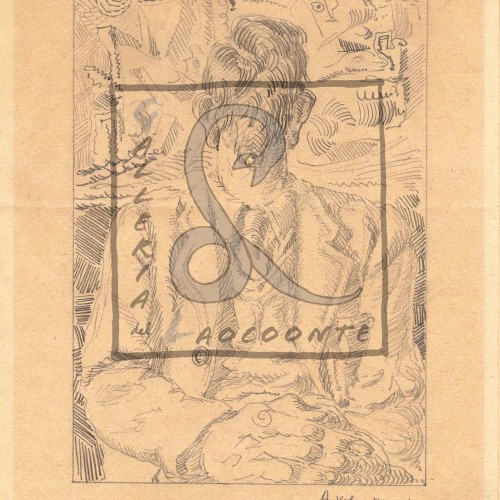 Alberto Savinio - Loterie clandestine, 1948 Matita su carta Cm 28,8x24,4
