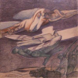 Giuseppe Rivaroli - Stormi, 1935 Pastello, Cm 22x27,8