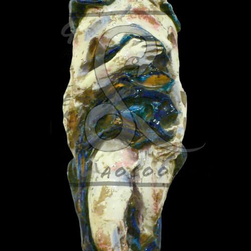 Leonardi Leoncillo Il corso del Tevere, 1955 Terracotta policroma smaltata