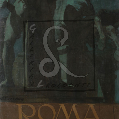 Vittorio Grassi - Feste commemorative della proclamazione del Regno d'Italia, 1910 Olio su tela Cm 200x96