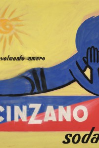 Raymond Savignac - Cinzano Soda / Apertivo gradevolmente amaro, Bozzetto Pubblicitario, Tempera su Cartoncino, cm 55,5x78