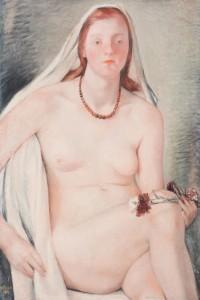 Ferruccio Ferrazzi, Nudo di giovanetta, 1936, Olio su tavola, cm 75x52,5