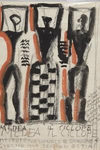 Mario Sironi, Medea – Il Ciclope, 1949, Tempera e matita su carta, cm 29,2x23,2