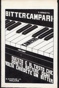 Gino Soggetti - Bitter Campari ,1927, Disegno a china su carta, cm 17x26,8