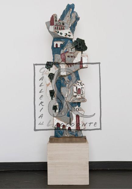 Leonardi Leoncillo - Il corso del Tevere, 1955 Terracotta policroma smaltata Cm 46x23 h. 142