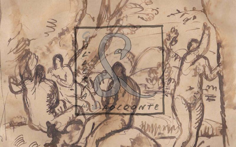 Felice Carena - Le Bagnanti, 1925, China su carta, Cm 15x20