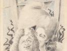 ALBERTO SAVINIO (Athens 1891 - Rome 1952) Louis XVI, 1931-1932 Grease pencil on paper, 62,5 x 48 cm