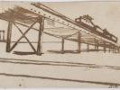 MARIO SIRONI (Sassari 1885 - Milan 1961) Railway viaduct, 1920 Ink on paper, 14 x 21,5 cm