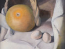 MARISA MORI (Florence 1900 - 1985) Grapefruit and eggs, 1935 Oil on wood, 45 x 49 cm