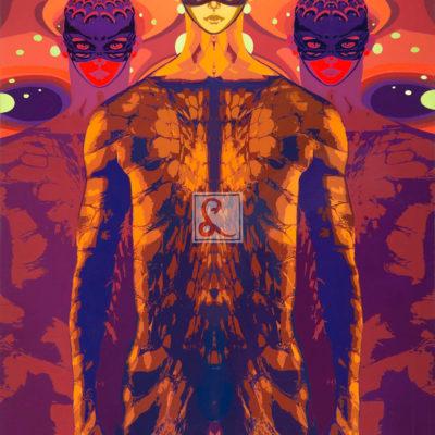 23 Anunnaki, 2016 olio su tela, 80 x 60 cm