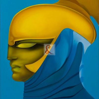 26 Silenzio giallo, 2016 olio su tela, 80 x 60 cm