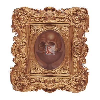 3 Skull (april), 1991 olio su cartone, 14,5 x 10,5 cm