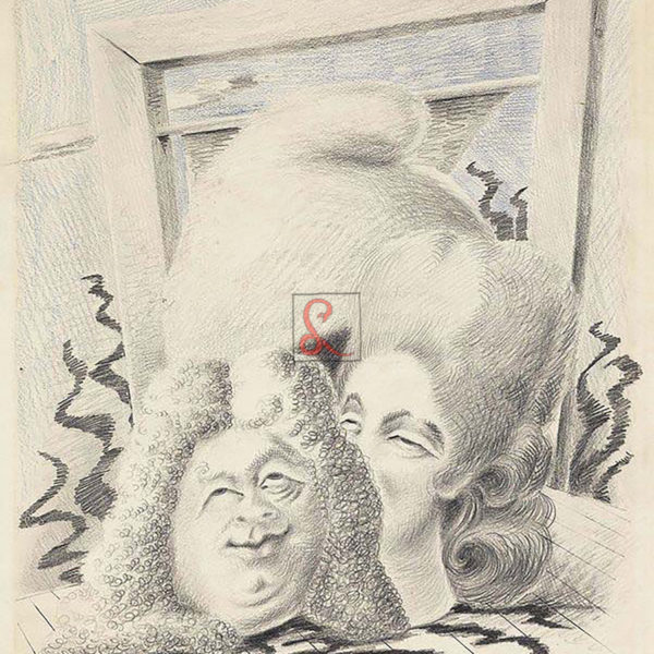 A. Savinio,Luigi XVI, 1931-32, matita grassa su carta, cm 32,5x48