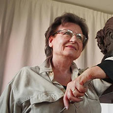 Lea Monetti, artista italiana (foto ritratto)