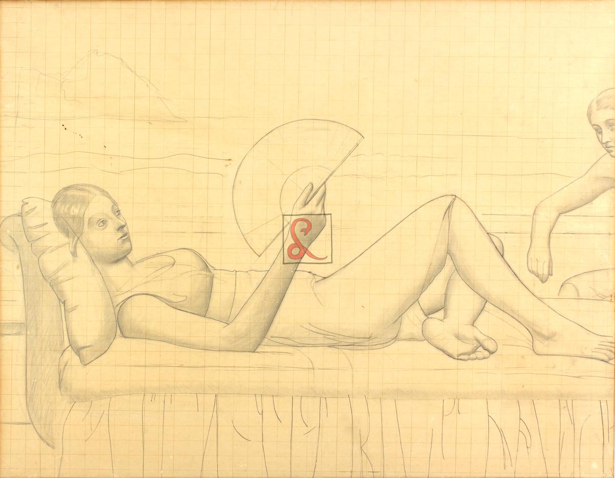 Edita Walterowna Broglio, Studio per la Terrazza sul mare (1949-1950), cm 96x123