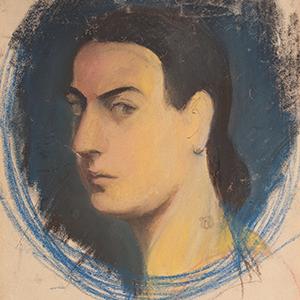 Marisa Mori (autoritratto), artista italiana del novecento