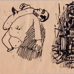 Mino Maccari (autoritratto), artista italiano del novecento