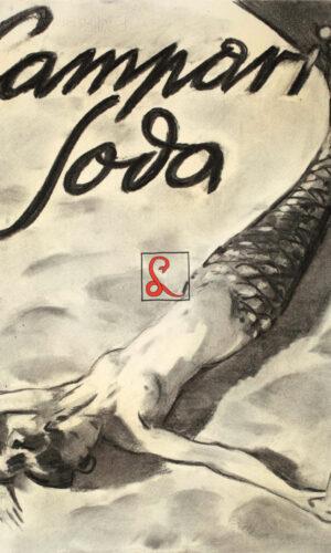 Enrico Sacchetti, Sirena sdraiata sulla spiaggia, 1936. Carboncino e sfumino su carta, cm 44x33