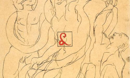 Corrado Cagli, Laocoonte, 1938. China su carta 32,5x25