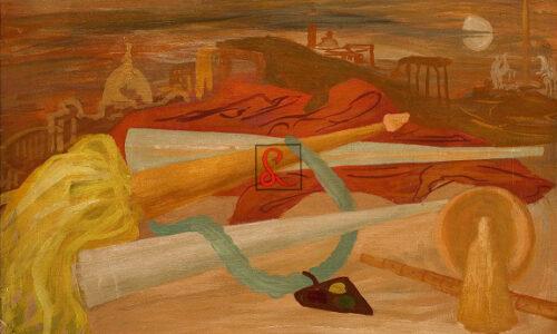 Corrado Cagli, La notte di San Giovanni 1934. Encausto su tavola cm 40,1x59,7