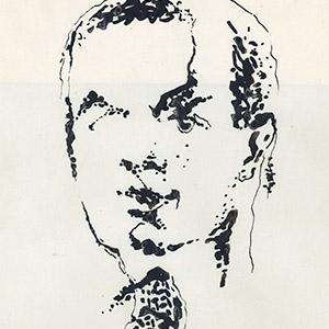 Enrico Prampolini, artista italiano del novecento, autoritratto