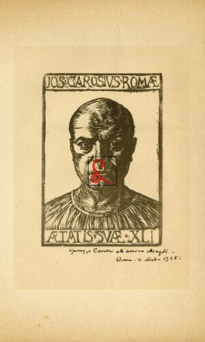 Giuseppe Carosi, Serigrafia. Cm 34,7x24,6