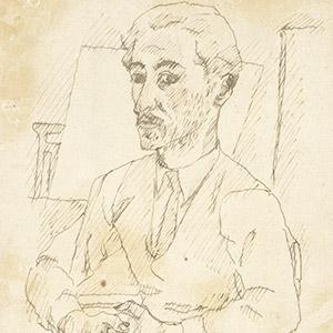 Orfeo Tamburi, artista-italiano del novecento, autoritratto