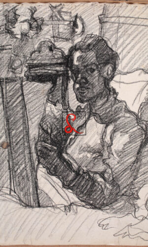 Primo Conti, Carboncino su carta, cm 37x33