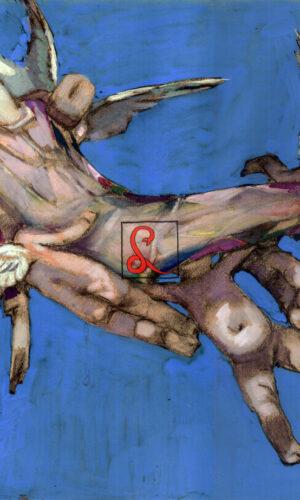 Enrico Sacchetti, Morte di Arlecchino, olio su tela, cm 37,5x48,8