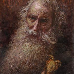 Vincenzo Gemito, Autoritratto, 1915. Olio su cuoio, cm 63,7x47,7. Firmato e datato in basso a destra